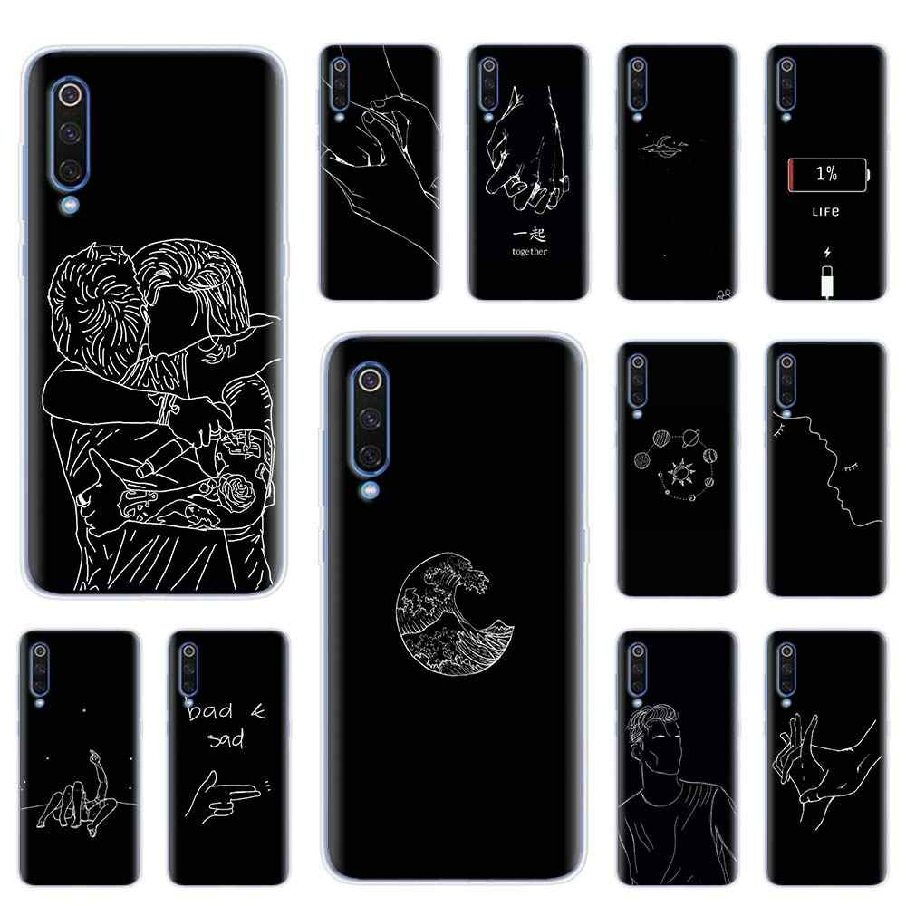 Grappige Abstract Art Lijnen Lover Valt Case Voor Xiaomi Mi 9 9T 10 Lite Note 10 Pro A1 A2 a3 8 Lite Poco X2 F2 Pro Cover Coque