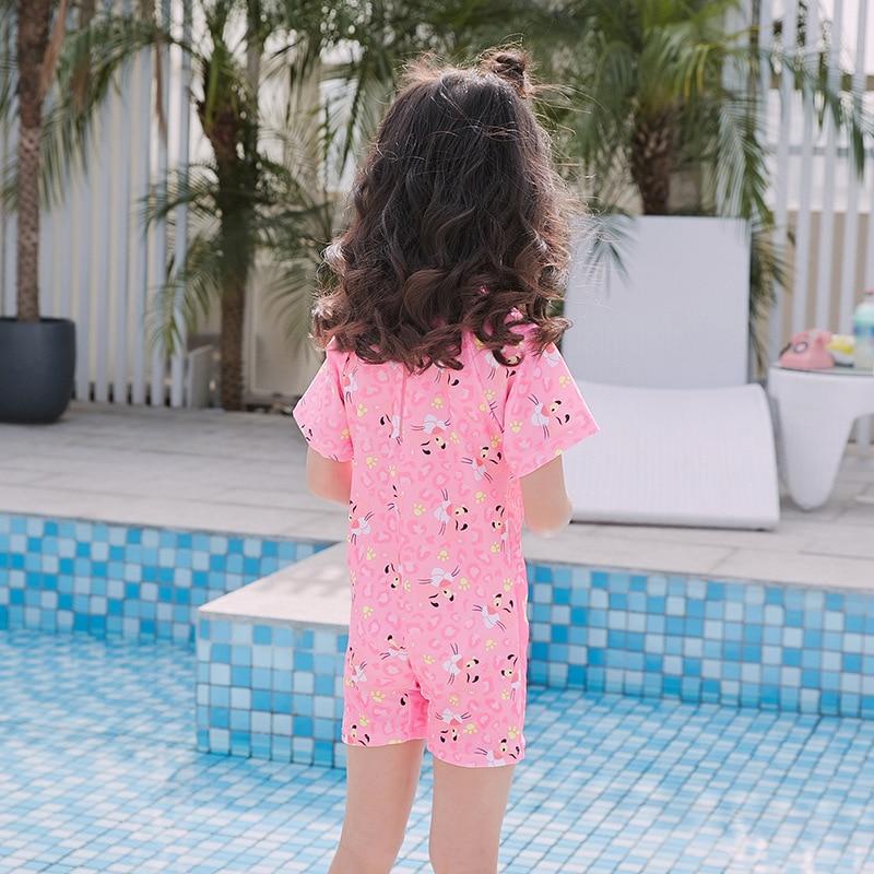 2019 New Style KID'S Swimwear Digital Cartoon Women's Small CHILDREN'S One-piece Boxer Swimwear
