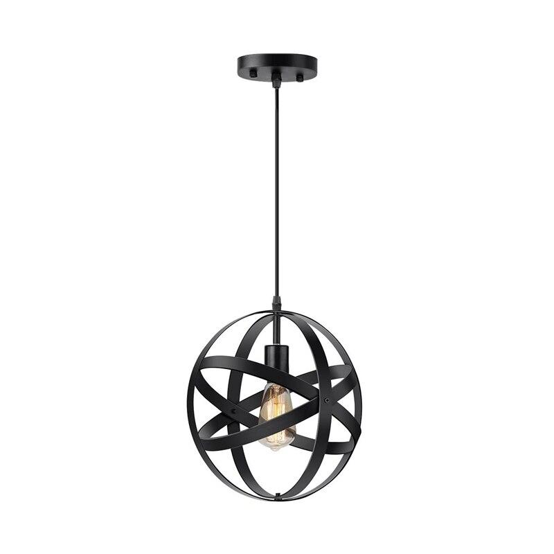 Industrial Metal Chandelier Ball Chandelier Retro Cage Globe Ceiling Lamp For Restaurant / Foyer