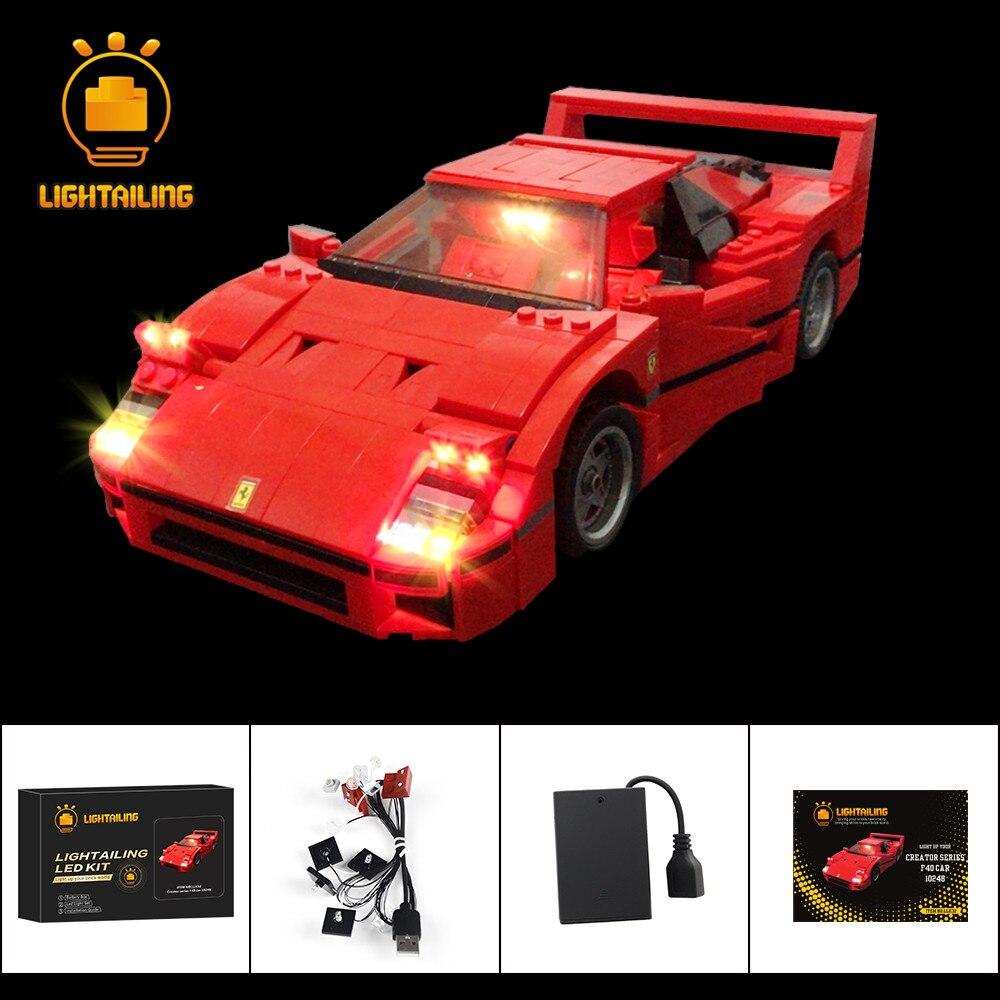 LIGHTAILING Led Light Up Kit For Creator Series F40 Car Building Block Lighting Set Compatible With 10248 21004|block light|block set|led block - title=