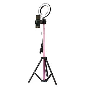 Image 1 - Rosa LED Licht 7W LED Licht Runde Selfie Kamera Lampe mit Licht Stehen Verstellbare Helligkeit 16/20/ 26cm Live Show Unter Bilder