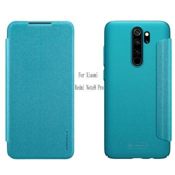 For redmi Note 8 NILLKIN Sparkle flip cover PU leather case Cover For Xiaomi redmi 4/5/6/7/Y3/S2/Note 8/7/6 Pro/K20/Mi 9T case