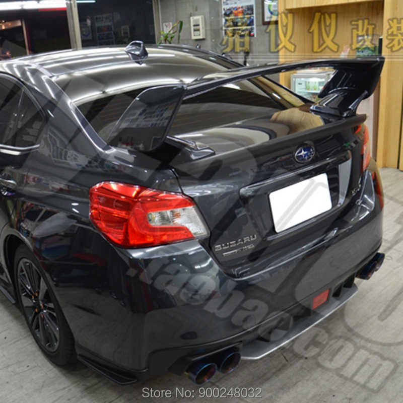 for 2007 2016 subaru wrx sti oe style abs plastic unpainted color rear roof spoiler wing trunk lip boot cover car styling spoilers wings aliexpress aliexpress