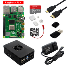 Raspberry Pi 4 Model B Kit 2Gb/4Gb Ram Board + Heatsink + Case + 32/64 Sd card + Hdmi Kabel + Voeding Voor Raspberry Pi 4B