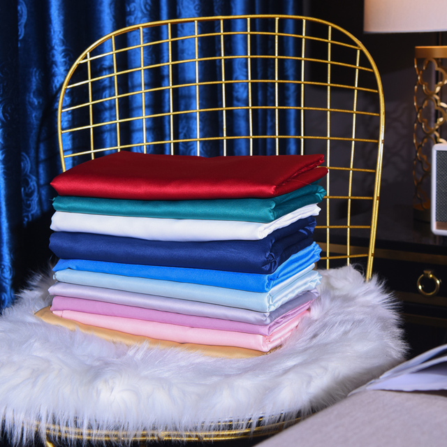 TWO Side 100% satin silk Pillowcases Envelope Pure Silk Embroidery Pillow Case Pillowcase for Healthy Sleep Multicolor 48x74cm 5