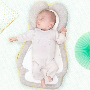 Baby nest bed multifunctional baby crib sheets stroller mat comfortable soft newborn bionic bed portable base crib bedding set 90x50cm portable baby nursing sleeping nest bed breathable cotton shaping mat baby bionic bed for infants toddlers crib bumper