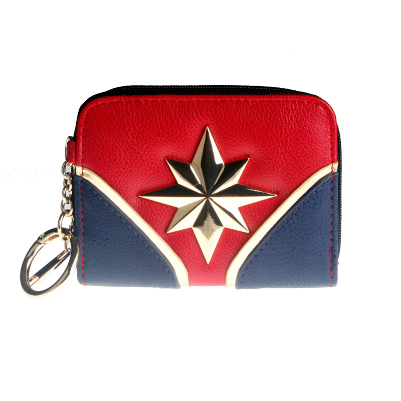 Captain Marvel Wallet Female Coin Purse Lady Purses Women Card Holder DFT6713