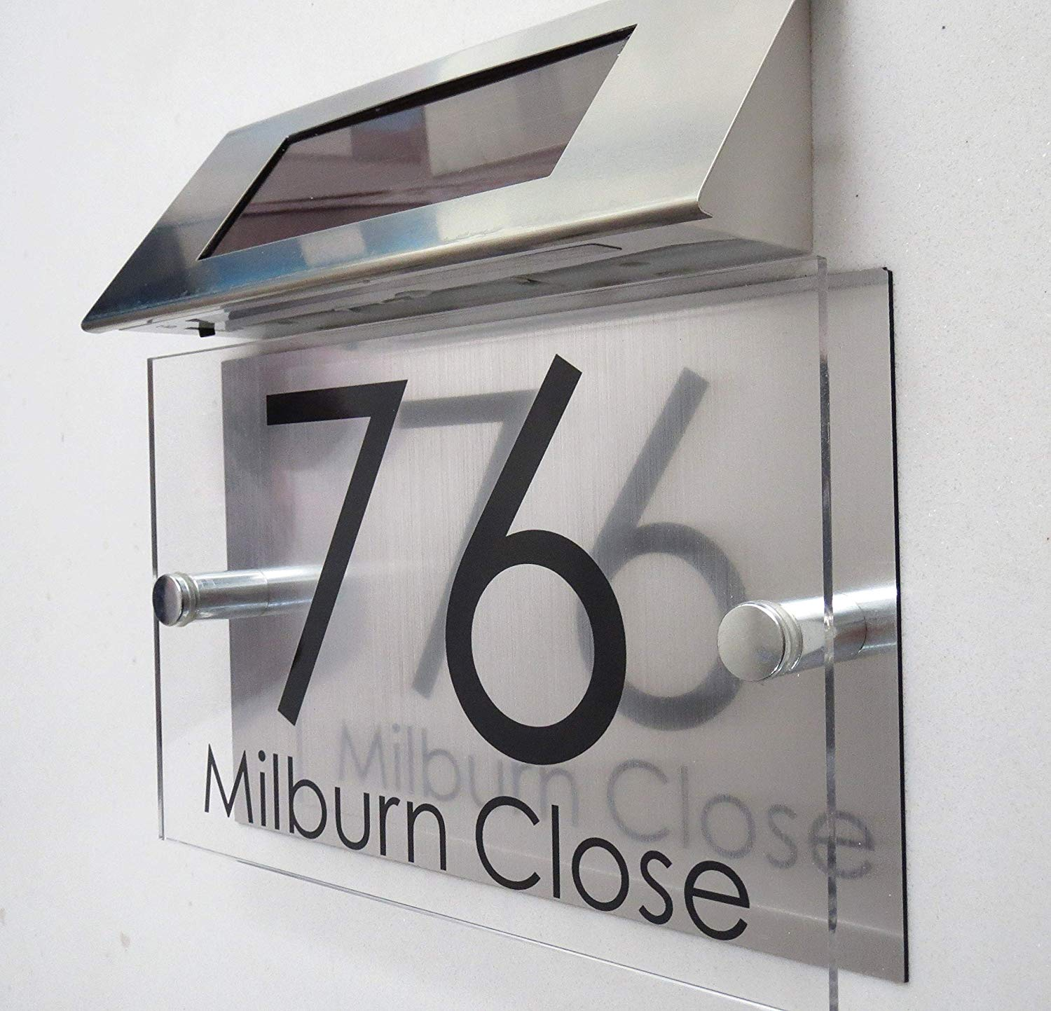 House Number Personalised Modern Solar Light House Signs Plaques Door Numbers 1 9999 Street Name Led Door Sign Door Plates Aliexpress