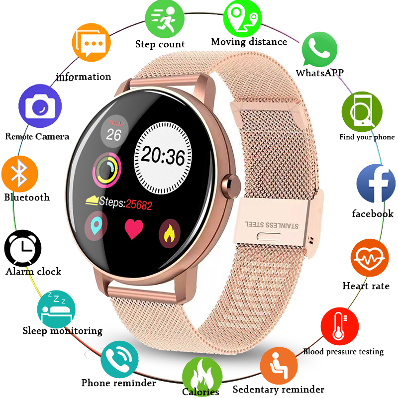 LIGE New Women Smart Watch Sports Multifunction Heart Rate And Blood Pressure Monitor Smart Watch Men Waterproof For Android Ios
