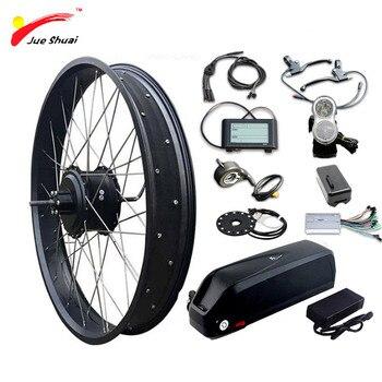 Kit para bicicleta eléctrica, conjunto con batería de litio de 48V y...
