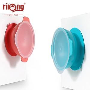 Чаша для детей Rikang, силиконовая тарелка для обеда, детская посуда с присоской, ложка для кормления ребенка, детский коврик для посуды