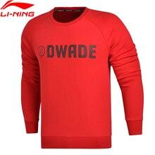 Распродажа) Li-Ning мужская кофта WADE, обычная посадка, 66% хлопок, 34% полиэстер, подкладка, спортивная одежда, длинный рукав, топы AWDM633 MWW1329