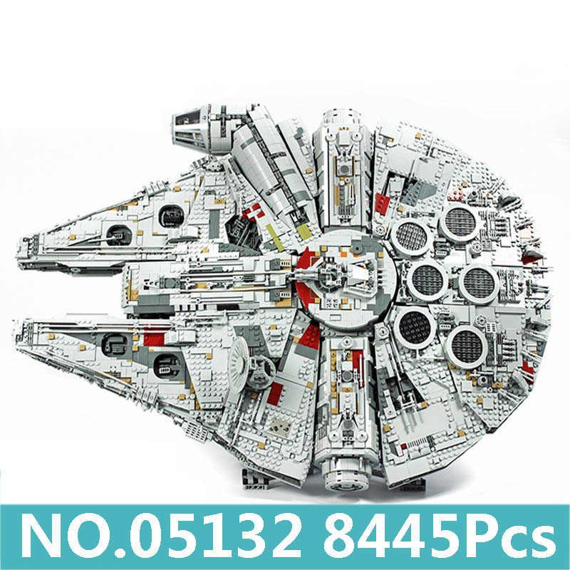 Lepinblocks gwiezdne wojny 05132 gwiazda śmierci Millennium gwiezdny niszczyciel Falcon Legoingly klocki 75192 zabawki król cegły