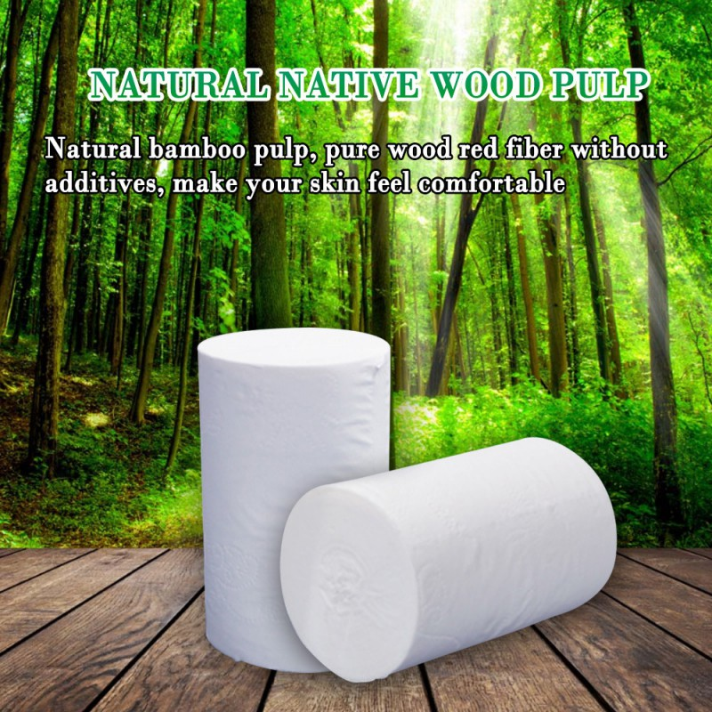 2 Rolls Toilet Paper Bulk Silky Smooth Soft Premium 3-Ply Paper Home Kitchen Toilet Tissue Soft Strong Absorbent Toilet Paper