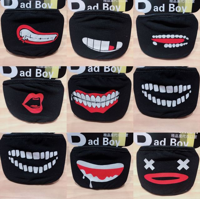 20 Styles Black Cotton Mouth Mask Unisex Teens Anti-Dust Mask Anime Mask Fashion Health Face Mouth Mask 4