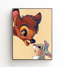 5d Diy Diamond Paintings Cartoon Rabbit Picture Full Round Embroidery Cross Stitch Pattern Decoration