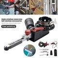 Ленточный шлифовальный станок  шлифовальный ремень  адаптер для электрической угловой шлифовальной машины  аксессуары для бытовой DIY шлифо...