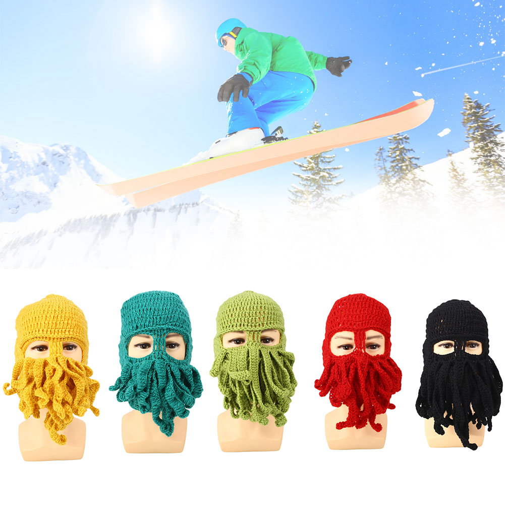 Comfortable Octopus Ski Cap Hat Beanies Ski Mask Warm Winter Accessory