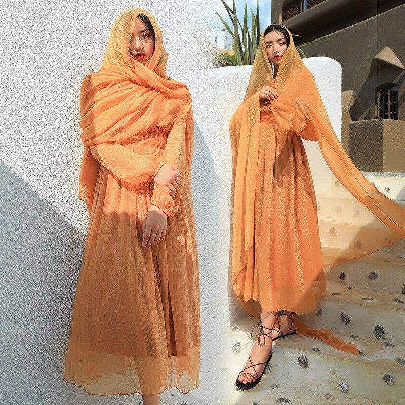 New Style Women's Summer Desert Skirt Holiday Skirt Seaside Beach Skirt V-neck Dress Slimming Long Skirts
