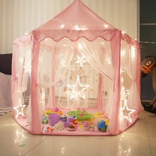 Tent Play-House with Star-Light Indoor-And-Outdoor-Games for Children Castle Monobeach