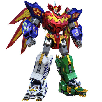 2020 new Children Toys Gifts 5 in 1 Assembly Dinozords Transformation Ranger Megazord Robot Action Figures Children Toys Gifts image