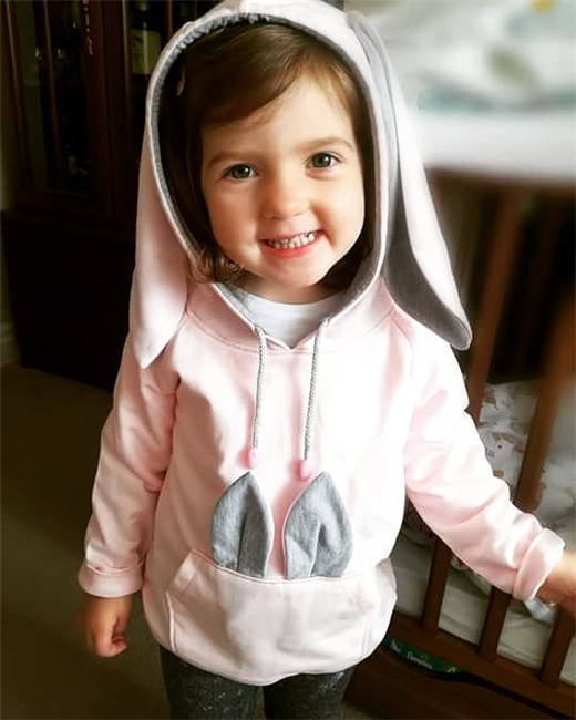 Newborn Baby Girls Clothes Ear Hooded Tops Pants Outfits Tracksuit Sets 0-24M