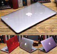 Cristal étui pour macbook Air 13 A1466 A1369 Touch ID A1932 Touch bar Air pro retina 11 12 13.3 15 16 pouces A1706 1708 A1989 A2159