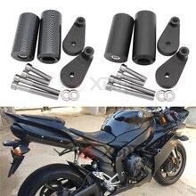 รถจักรยานยนต์อุปกรณ์เสริม NO CUT กรอบสไลด์ FALLING CRASH เครื่องยนต์สำหรับ 2007 2008 Yamaha YZF R1 YZFR1 YZF R1 2007 2008