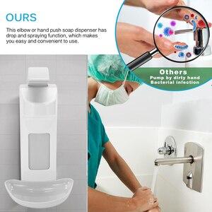 Image 4 - Dispensador de sabão líquido montagem na parede 1000ml acessórios do banheiro detergente shampoo dispensadores mão sabão garrafa