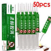 50pcs/lot Contagious Cockroach Bait gel Paste Killer Repeller Trap poison for bug pesticides Pest Reject control inse