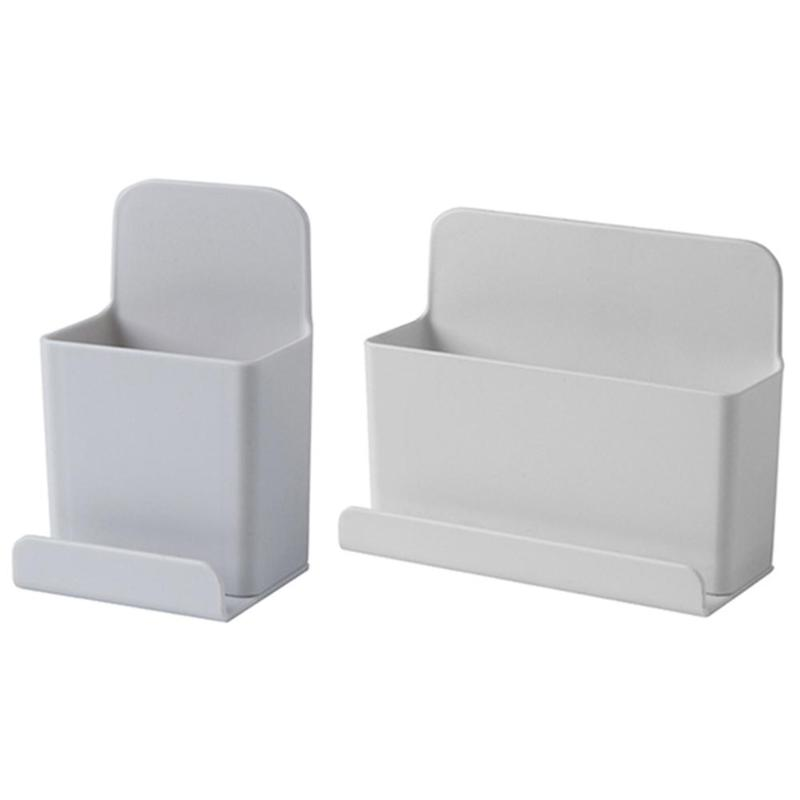 Desktop Storage Box Holder Wall Mounted Stand Container <font><b>Remote</b></font> Control Mobile Phone Plug Modern Convenient Decoration image