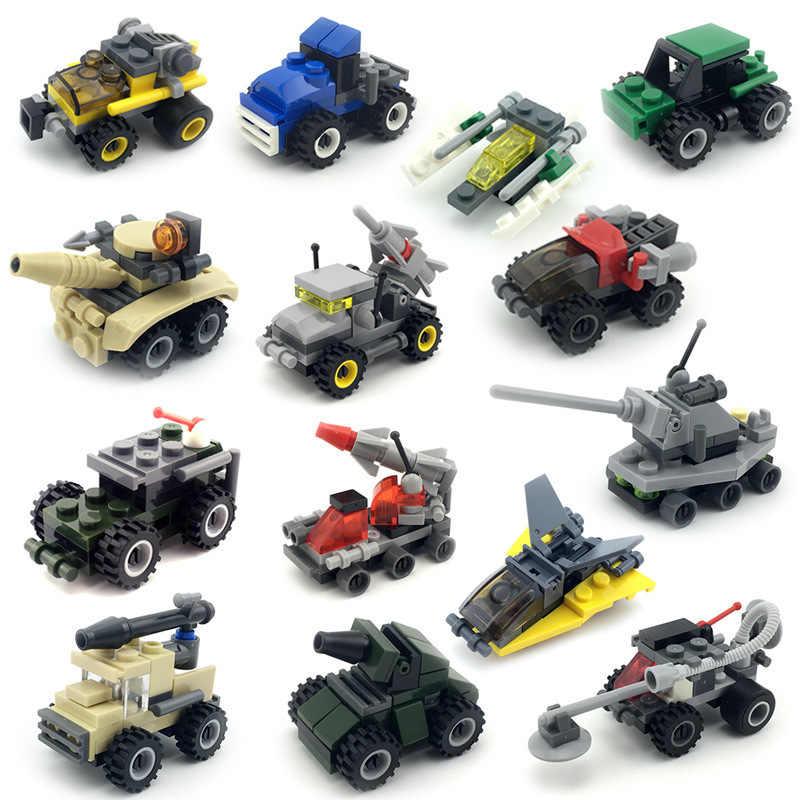 Technic Blocos Exército Modelo Militar Tanque de Transporte Do Carro Carros Set Mini Criador Bloco de Construção DIY Brinquedo Educativo para As Crianças