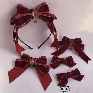 New Wine Red Gothic Style Girl