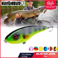 Hunthouse Jerkbait Muschiato Buster Pike Lure di Pesca 11.5/14.5 centimetri 32/52g Jerk VIB Esche Lento Affondamento big Bass Pesca westin