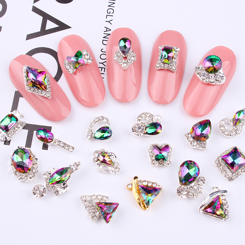 Купить 100 шт разноцветные кристаллы для дизайна ногтей