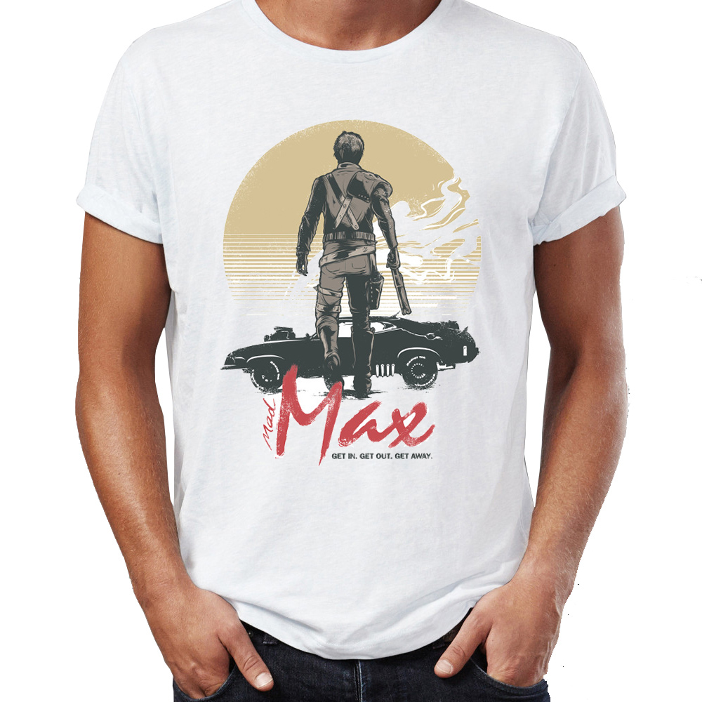 Brand New Men T Shirts 100% Cotton Mad Max Get In Get Out Get Away Awesome Illustration Artwork Printed Tee Shirts Oversize