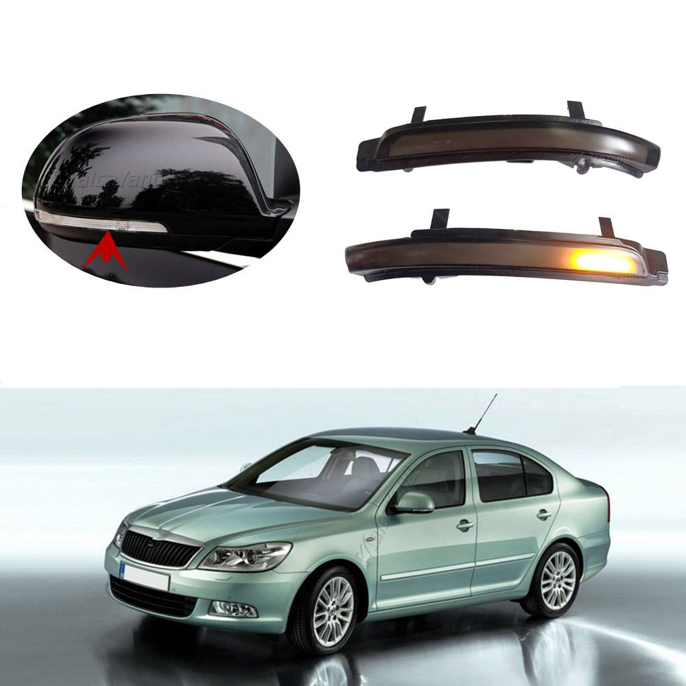 Dynamic Blinker For <font><b>Skoda</b></font> <font><b>Octavia</b></font> MK2 A5 SuperB B6 3T <font><b>LED</b></font> Turn Signal Mirror light 2009 <font><b>2010</b></font> 2011 2012 image
