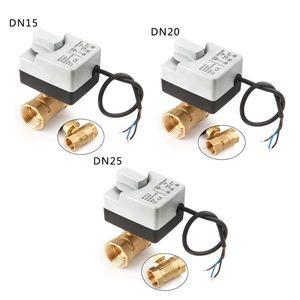 Image 5 - AC220V DN15 DN20 DN25 pirinç elektrikli vana 2 way motorlu bilyalı vana üç teller elektrikli aktüatör ile manuel anahtar