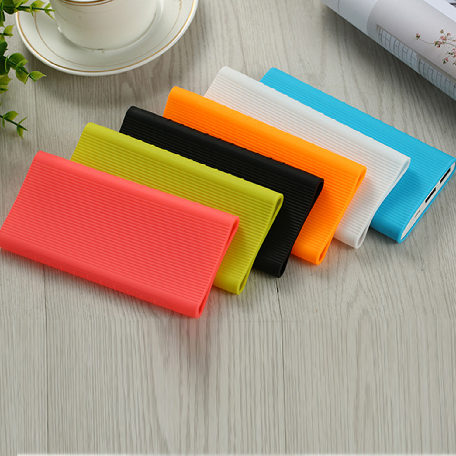 Besegad Silicone Protector Case Cover Skin for New <font><b>Xiaomi</b></font> Xiao Mi <font><b>2</b></font> 10000mAh Dual USB Power Bank <font><b>Powerbank</b></font> PLM09ZM Accessory image