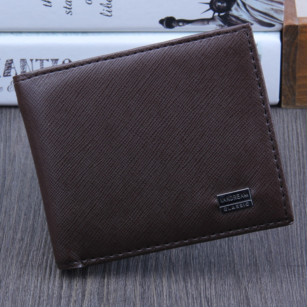 Men Bifold Business Leather Wallet  ID Credit Card Holder Purse men's wallet clutch portfel cuzdan billetera carteira  (24)