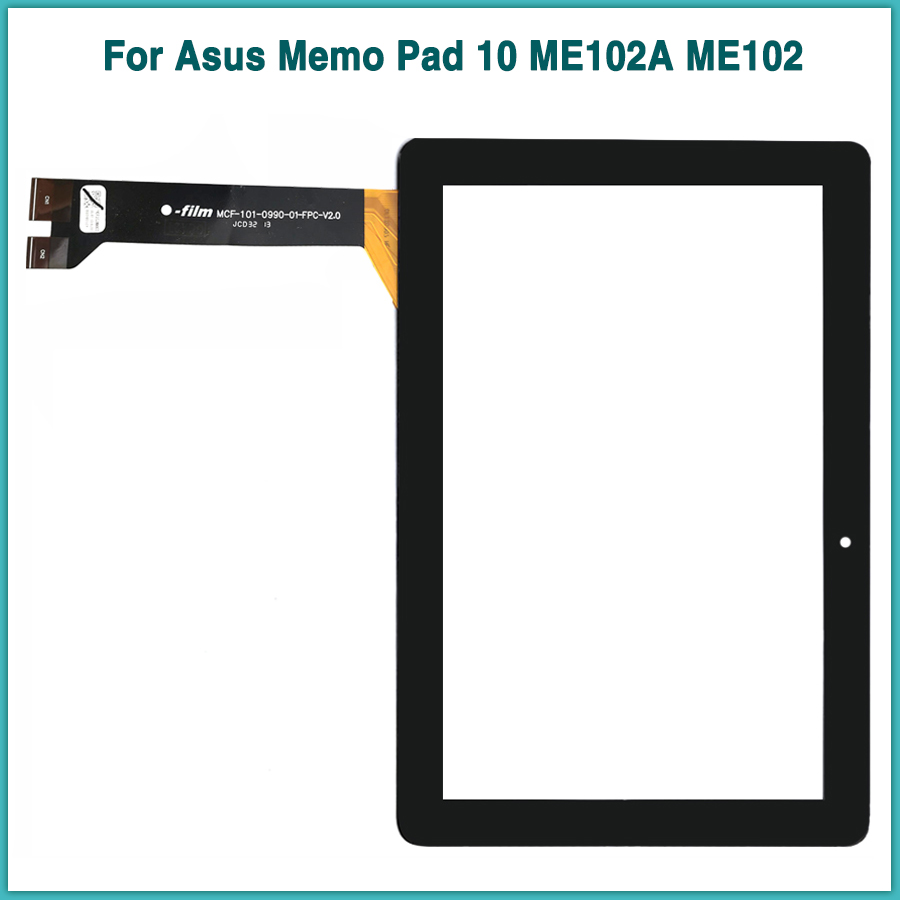new ME102A TouchScreen For <font><b>Asus</b></font> Memo Pad 10 ME102A ME102 <font><b>K00F</b></font> Touch Screen Panel Digitizer Sensor fornt Glass image