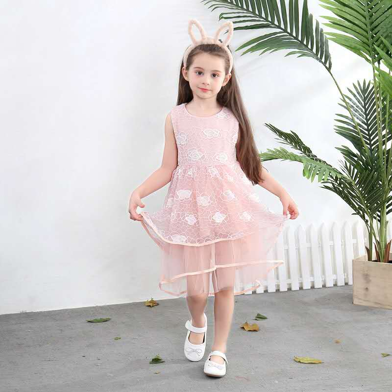 Flower Girls Princess Dress Kids Baby Party Pageant Lace Tulle Tutu Dresses dv66