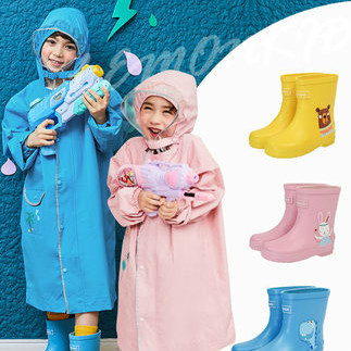 Girls Raincoat Kids School Boys Kindergarten Long Rain Poncho Rain Jacket Waterproof Yellow Long Rain Coat Capa De Chuva Gift