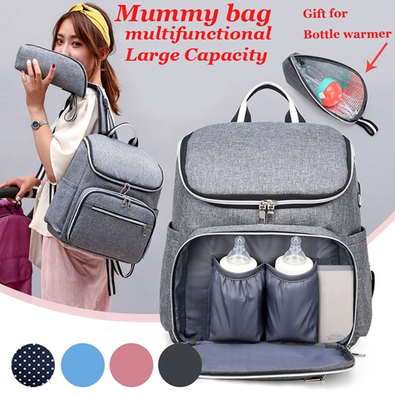 2020 Mummy Diaper Bag  Baby Mom Backpack Large Maternity Nappy Bags Multifunction Baby Bag For Stroller  With Wet Bag