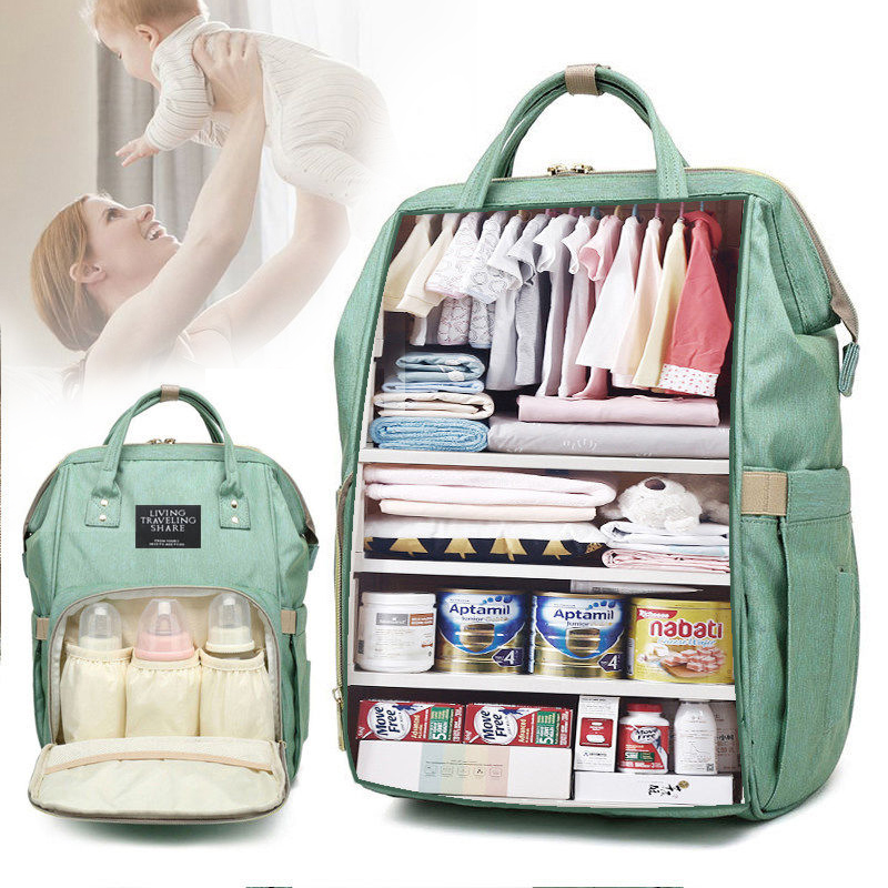 Fashion Mummy Maternity Baby Diaper Nappy Bags Large Capacity Travel Backpack Mom Nursing For Baby Care Women Pregnant Polyester