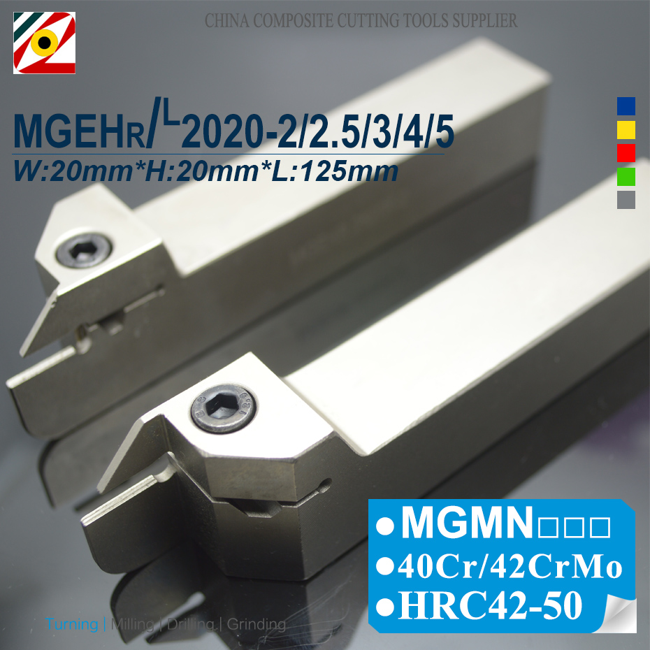 EDGEV MGEHR2020-2/2.5/3/4/5 MGEHL2020-2/2.5/3/4/5 CNC External Grooving Tool Holder Cutter Turning Tools For MGMN200/300/400