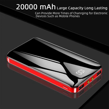 цены Portable Extemal Battery Charger Power Bank 20000mAh for  Mobile Phone Dual USB Powerbank Case for Xiaomi Iphone Charging Bank