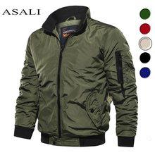 Rahat su geçirmez bahar 2020 askeri ceket erkek üst ceketler mont erkek giyim rahat marka fermuar ince portmanto yaka