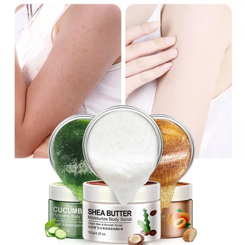 Almond/Shea Butter/Cucumber Moisturizing Rubbing Mud Exfoliating Cream Body Scrubbing Cream Exfoliate Emulsion Clean 120g