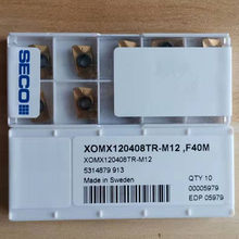Seco XOMX120408TR-M12, inserções do carboneto do cnc de f40m 10 pçs/caixa pack pack * pacote da fábrica ** *